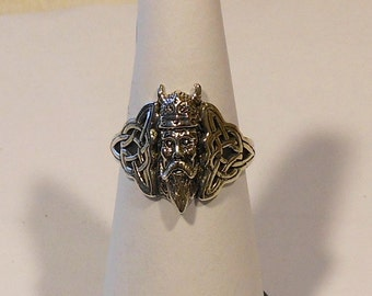 Viking Celtic Sterling Silver Ring