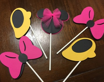 Minnie Mouse Birthday, Minnie Mouse Cupcake Toppers, Minnie Mouse Party,Minnie Mouse Birthday, Minnie Mouse Decorations