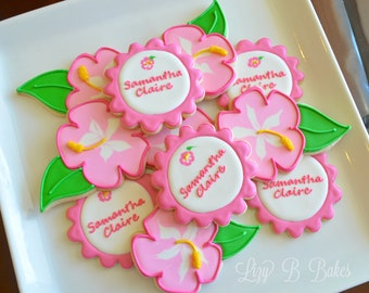 12 Personalized Flower Cookies!