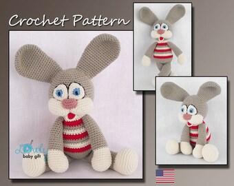 Amigurumi  Pattern Crochet , Amigurumi Toy, Crochet Bunny Pattern, Animal Crochet Pattern, Amigurumi Bunny, Rabbit, CP-117