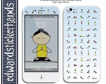 iPhone Decorative Cover Skin- Yoga Yogis Pattern!