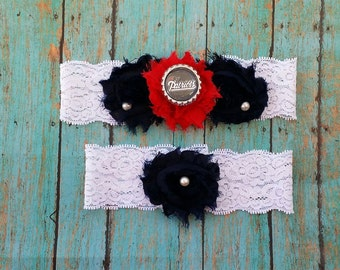 Patriots Wedding Garter Set