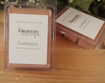 Cashmere Scented 100% Soy Wax Melt -Warm and Musky- Maximum Scented