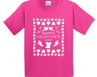Ugly Valentine's Day Sweater Youth T-Shirt 2000B - WHS-310T