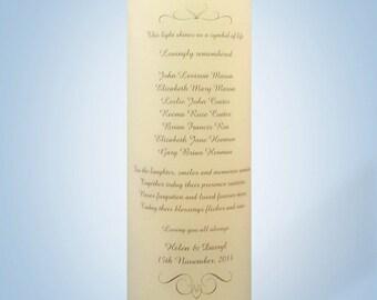 "Wedding Memorial Candle 5"" x 16"""