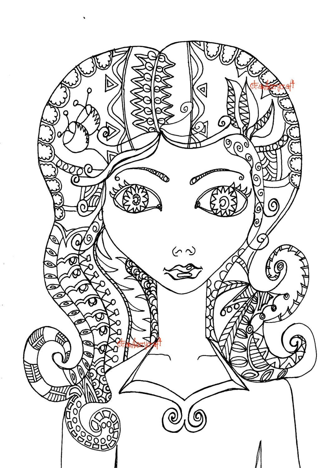 beautiful coloring pages realistic - photo#22