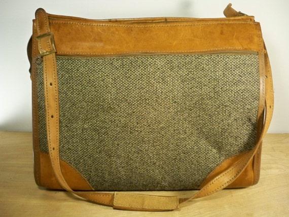 Vintage Hartmann Luggage Brown Leather Amp Tweed Bag By Joeymest