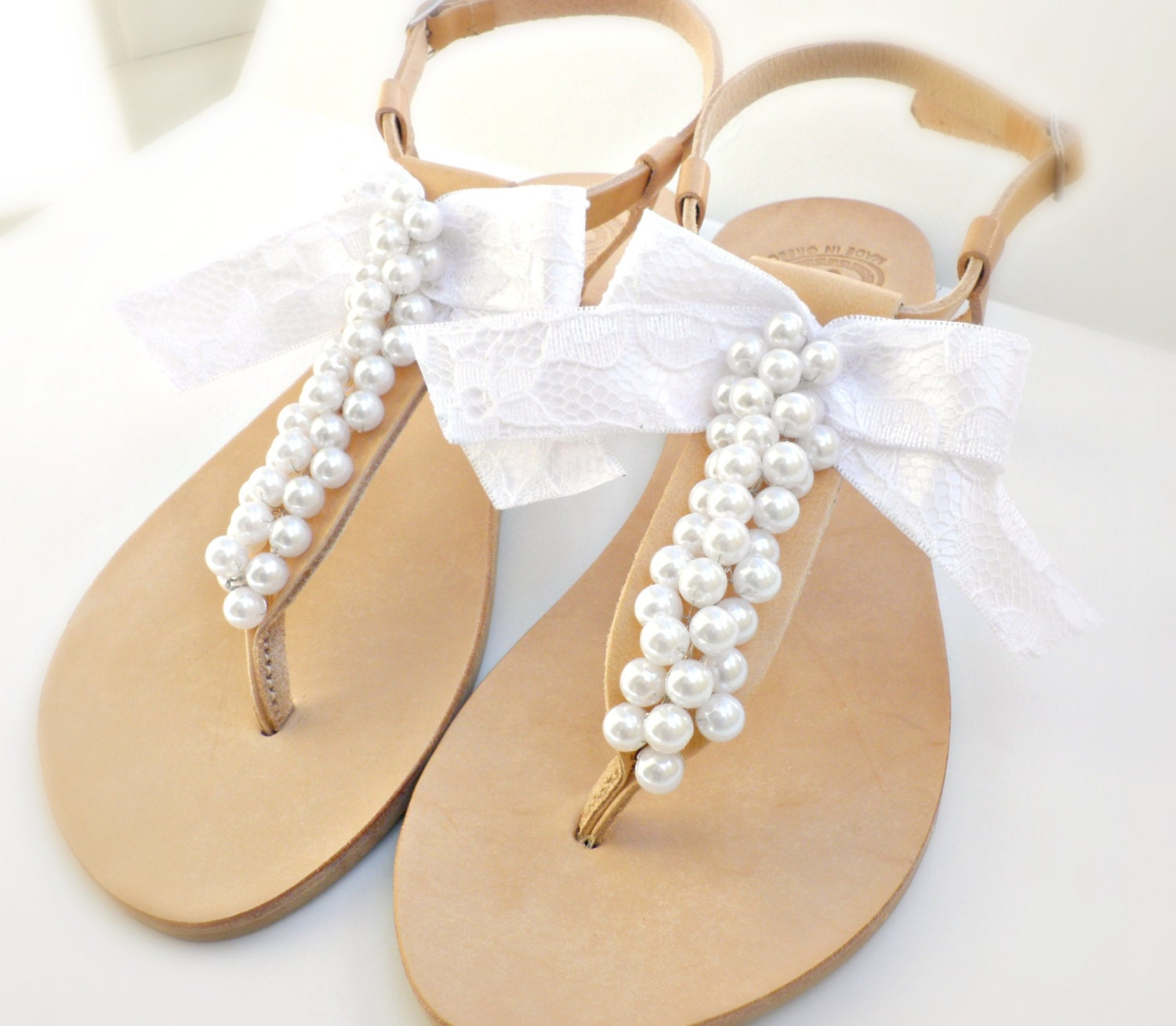 Sandals Wedding: Bridal Sandals Greek Leather Sandals-Wedding Sandals