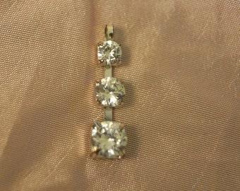 Vintage 3 Stone Pendant