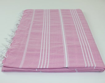 Beach Picnic Oversized Blanket, Beach Towel Blanket, Excellent Quality, 100% Turkish Cotton Pink Lilac