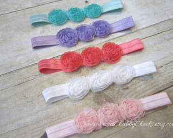 Newborn Girl Headbands...Baby Girl Headband...Baby Headband..CHOOSE YOUR COLOR...Flower Headband...Summer Headband...Newborn Girl..Baby Girl