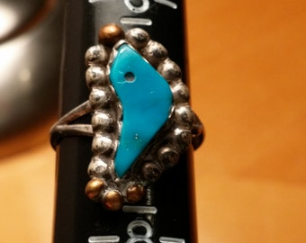 Turquoise Sterling Ring Size 7.5