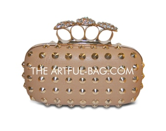 The Crystal Knuckle Studded Clutch From The-Artful-Bag.com