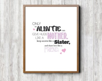 Auntie Framable Printed Quote