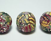 Polymer Clay Watermelon Beads Beadset Jewelrymaking