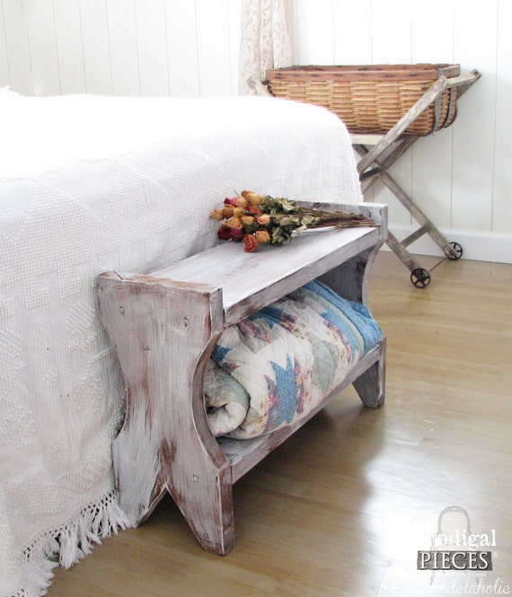 Handcrafted Farmhouse Entry Bedroom Bench With Storage