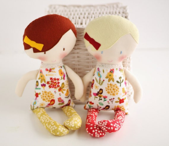 Handmade Baby Gifts Ireland : Organic rag doll stuffed toy baby