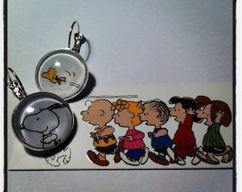Comic Earrings - Recycled Comic tag Paper earrings