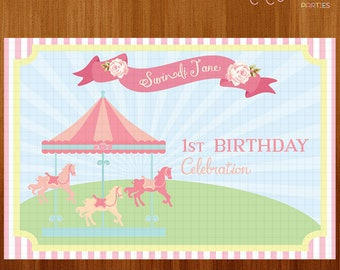 Printable Backdrop Banner (Carousel)