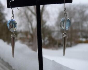 Spike & Crystal Drop Earrings