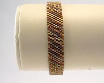 Friendship Bracelet in warm brown tones