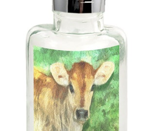 Jersey Calf Clear Glass Soap Dispenser