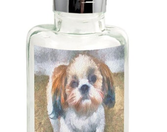 Shih-Tzu TuTu- Glass Lotion Dispenser By DoggyLips.Com