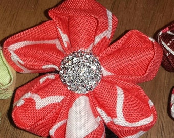 Kanzashi Flower Retractable badge holder reel