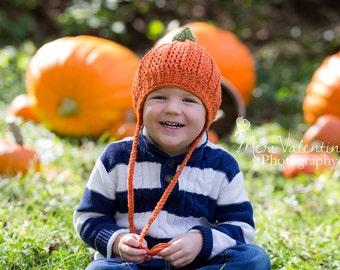 Crochet newborn - Adult Pumpkin beanie - Custom made to order