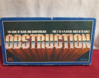 OBSTRUCTION GAME 1979 Whitman Hard to Find Game of Block and Counterblock