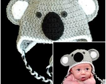 Koala Baby Animal Hat Winter Crochet Hat Kids Adult