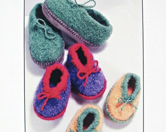 Crochet Pattern,Felted Kids Shoes Pattern,Felt Slippers Pattern,Six sizes,Boys Girls Shoes Pattern,Trendy Pattern,Adorable CuteShoe Pattern,