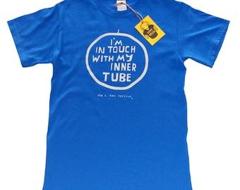 Men's Cycling T-shirt - FUNNY ZEN CYCLIST - Blue