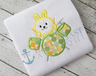 BUNNY DRUMMER machine embroidery design