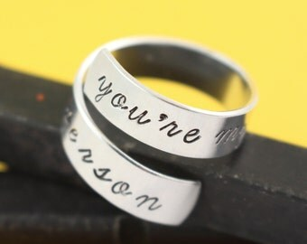 You're My Person Ring - You Are My Person Ring - Wrap Ring - Twist Ring - Silver Ring - Couple's Ring - BFF Gift - Adjustable Ring