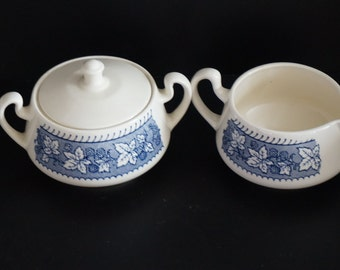 Vintage, Staffordshire Collection Shakespeare Country Creamer and Sugar Bowl