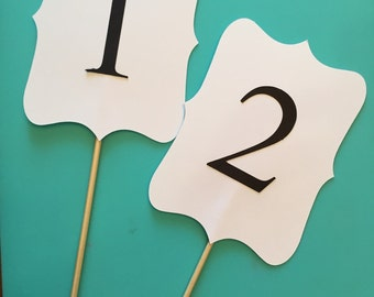 Table numbers for wedding centerpiece- set of 10