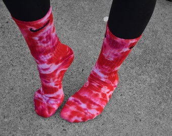 Valentines Nike Tie Dye Socks, Gift, Festive, Valentine Love, Valentines day, Valentines apparel, Fun socks, pink, red, school,