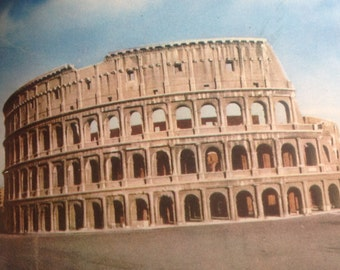 VINTAGE ROME GUIDE with reconstructions of monuments