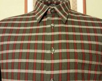 BURBERRYS PRORSUM • Striped Check Longsleeve Shirt sz L