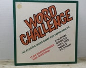 Word Challenge Board Game, Rare Hard to Find, 1986s, Vintage board game