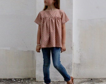 The Voilà Blouse PDF pattern and tutorial - sizes 2t -10, childrens sewing pattern - Instant download