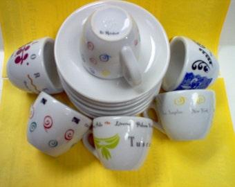 Italian demitasse cups & saucers~D. Rinhart ipa