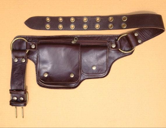 leather pack utility belt bag travel belt pouch