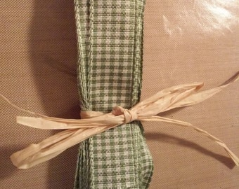 "Green Check Ribbon 5/8"" 0199 - 0201"