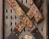 "Canyon Deuce Series 2"" brown floral guitar strap"