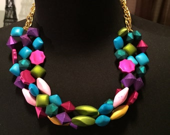 Beaded Layared Statment Necklace