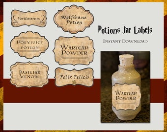 Harry Potter Potions Labels | Digital File