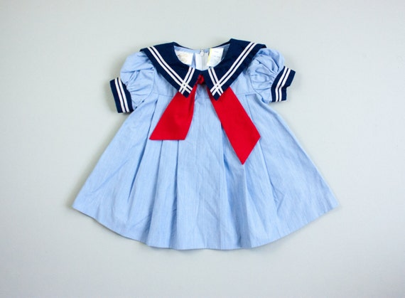 Bell bottom sailor uniform with bib collar