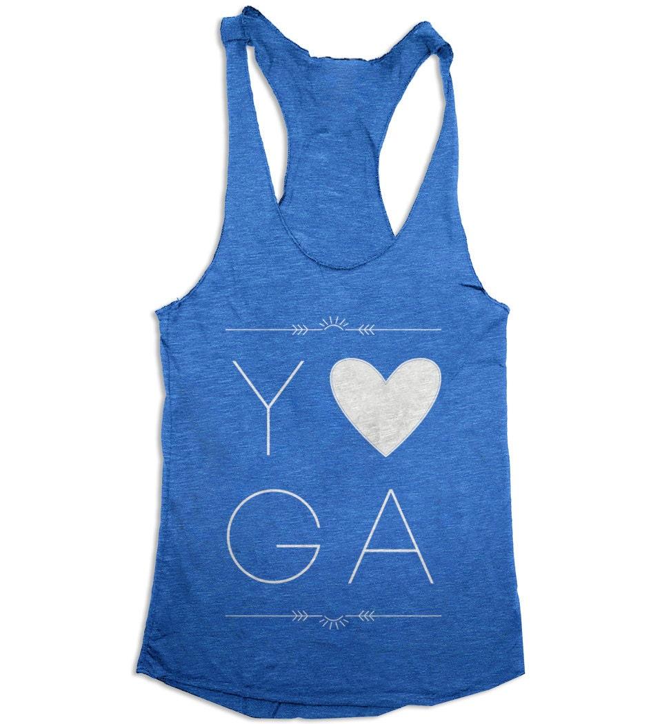 Yoga Tank Top Love Yoga Womens Workout Tank Top Tri
